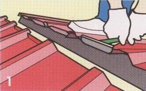 – ถ้าต้องการพับหัวแผ่นขึ้น ให้พับหัวแผ่นหลังคาขึ้นทั้งสองด้าน ด้วยเครื่องมือหรือคีมดัดเหล็ก