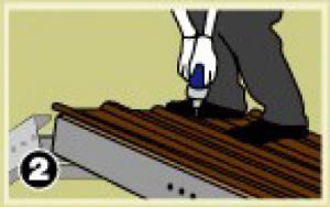 – ให้ยึดสกรูทุกๆสันลอนบริเวณแปปลาย และแปเดี่ยว ส่วนแปกลาง ยึดสันลอนเว้นสันลอน