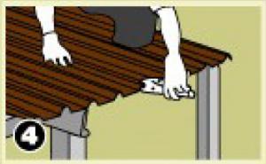 – ใช้คีมหนีบบริเวณซ้อนทับแผ่น เพื่อความแน่นหนาในการยึดสกรู ทั้งหัวแผ่นและปลายแผ่น